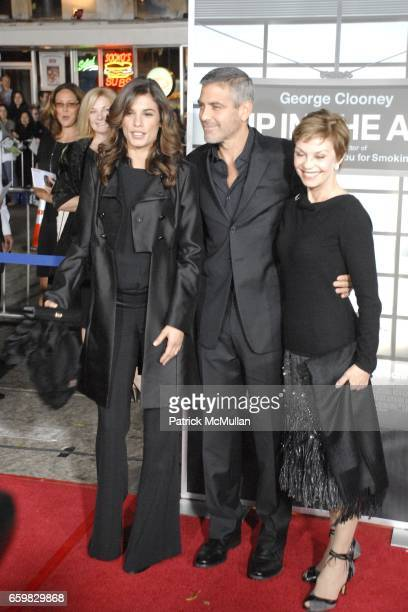 Elisabetta Canalis George Clooney and Nina Warren attend Los Angeles Premiere of Up In The Air at Mann's Village Theater on November 30 2009 in Los...