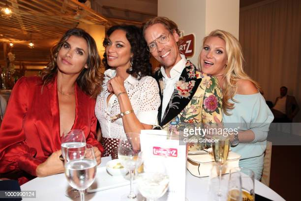 Elisabetta Canalis, guest of Hermann Buehlbecker, CEO Lambertz, Lilly Becker, guest of Hermann Buehlbecker, CEO Lambertz, and Jens Hilbert, and...