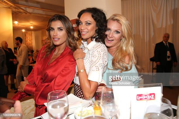 Elisabetta Canalis, guests of Hermann Buehlbecker, Lilly Becker and Magdalena Brzeska during the media night of the CHIO 2018 on July 17, 2018 in...