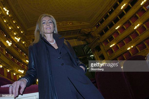 Elisabetta Fabbri director of conservation at La Scala Milan poses in the opera house Friday November 19 2004 La Scala reopens December 7 after a...