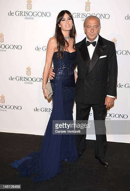 Elisabetta Gregoraci and Fawaz Gruosi attends the de Grisogono Party during the 65th Annual Cannes Film Festival at Hotel Du Cap on May 23 2012 in...