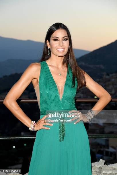 Elisabetta Gregoraci attends the 65th Taormina Film Fest Cocktail at Teatro Antico on July 02, 2019 in Taormina, Italy.