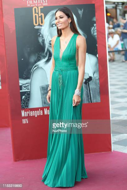 Elisabetta Gregoraci attends the 65th Taormina Film Fest Red Carpet on July 2 2019