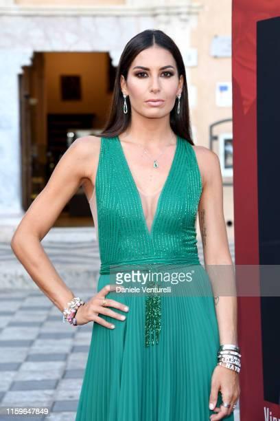 Elisabetta Gregoraci attends the 65th Taormina Film Fest Red Carpet on July 02, 2019 in Taormina, Italy.