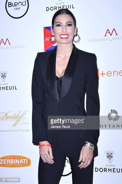 Elisabetta Gregoraci attends the Alessandro Martorana Party on January 28, 2018 in Milan, Italy.