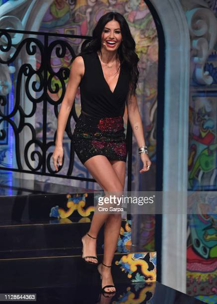 Elisabetta Gregoraci attends the Made In Sud TV Show on March 4 2019 in Naples Italy