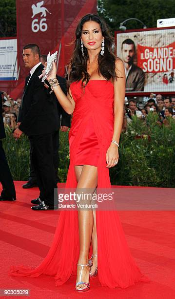 Elisabetta Gregoraci attends the Opening Ceremony and Baaria Premiere at the Sala Grande during the 66th Venice International Film Festival on...