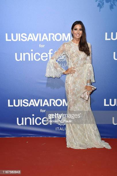 Elisabetta Gregoraci attends the photocall at the Unicef Summer Gala Presented by Luisaviaroma at on August 09, 2019 in Porto Cervo, Italy.