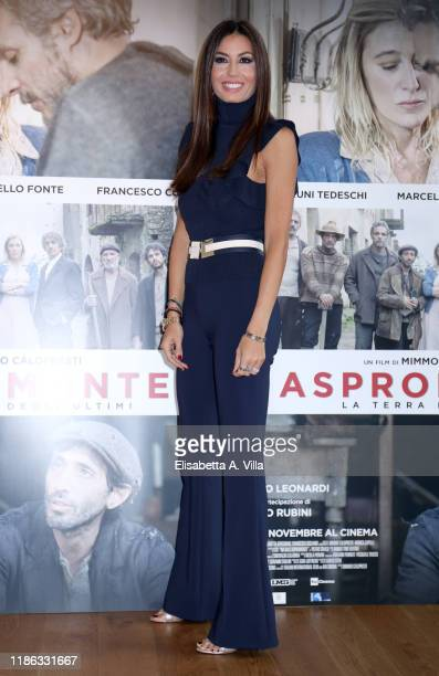 """Elisabetta Gregoraci attends the photocall of the movie """"Aspromonte"""" at on November 08, 2019 in Rome, Italy."""