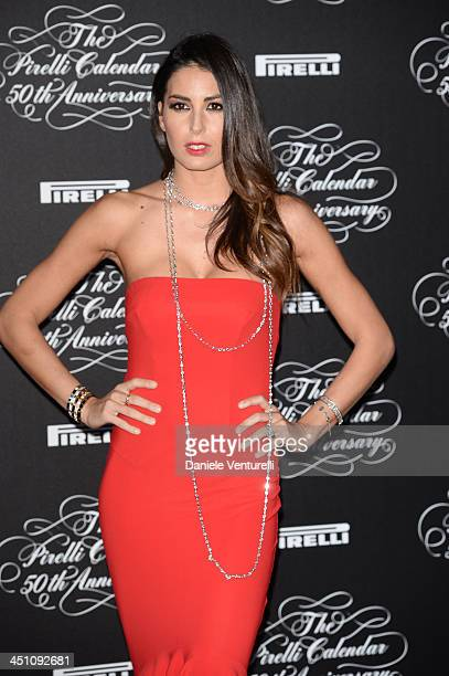 Elisabetta Gregoraci attends the Pirelli Calendar 50th Anniversary event on November 21 2013 in Milan Italy