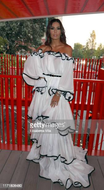 Elisabetta Gregoraci is seen at Campari lounge during 76 Venice Film Festival at on September 02, 2019 in Venice, Italy.