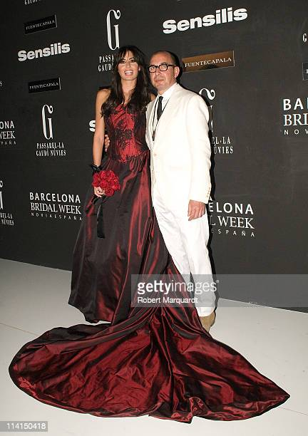 Elisabetta Gregoraci poses backstage for the Fuentecapala collection at the Barcelona Bridal Week on May 13 2011 in Barcelona Spain