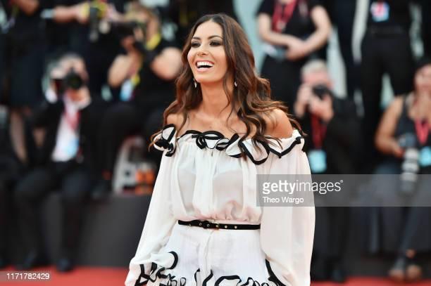 "Elisabetta Gregoraci walks the red carpet ahead of the ""Martin Eden"" screening during the 76th Venice Film Festival at Sala Grande on September 02,..."