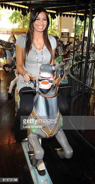 Elisabetta Gregoraci wife of Flavio Briatore attends the opening of Gardaland Magic Halloween on October 3 2009 in Verona Italy