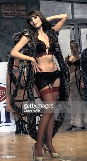 "Elisabetta Gregoraci, wife of Flavio Gregoraci, during a parade of the Selmark lingerie brand in the ""Palacio de Congresos"" of Madrid, 17th October..."