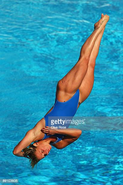 Elisabetta Maria Marconi of Italy competes in the Women's 1m Springboard Final at the Stadio del Nuoto on July 19 2009 in Rome Italy