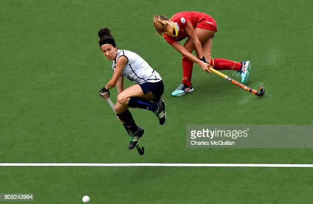 Elisabetta Pacella of Italy and Maria Lopez of Spain during the Fintro Hockey World League SemiFinal 5/8th place playoff game between Italy and Spain...