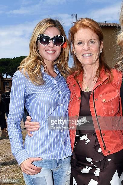 Elisabetta Pellini and Sarah Ferguson Duchess of York attends Matchless E Bike Presentation on June 5 2016 at Casone Ugolino in Castagneto Carducci...