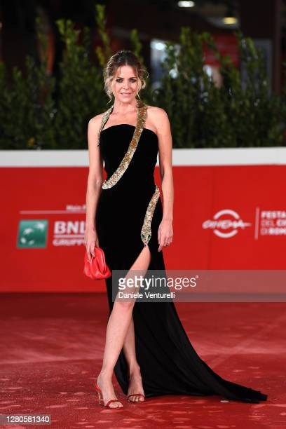"""Elisabetta Pellini attends the red carpet of the movie """"Supernova"""" during the 15th Rome Film Festival on October 16, 2020 in Rome, Italy."""