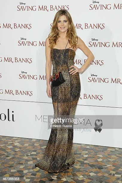 Elisabetta Pellini attends the 'Saving Mr Banks' premiere at The Space Moderno on February 6 2014 in Rome Italy