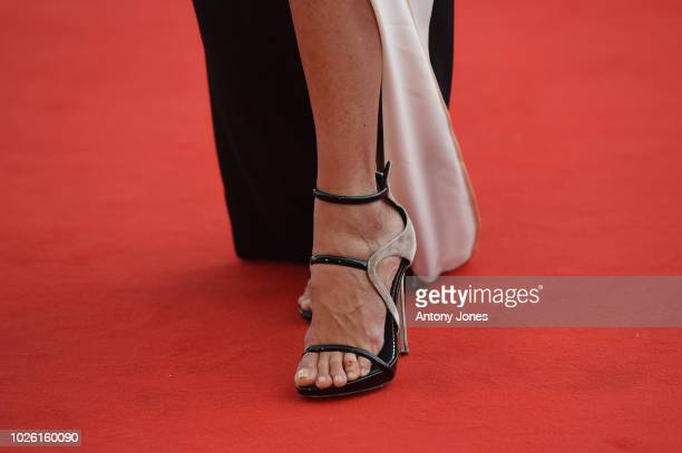 Elisabetta Pellini detail walks the red carpet ahead of the 'My Brilliant Friend ' screening during the 75th Venice Film Festival at Sala Grande on...