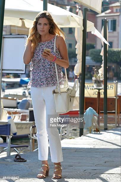 Elisabetta Pellini is seen on August 22 2015 in Portofino