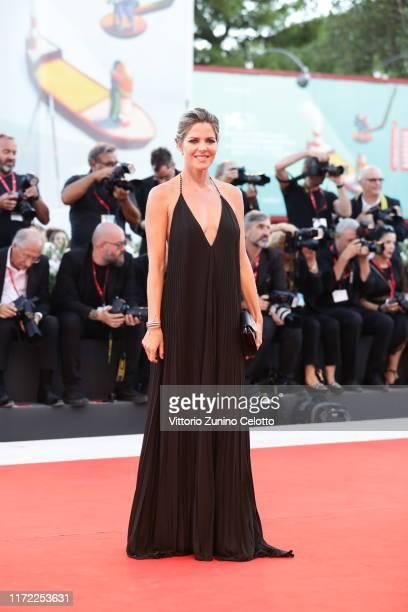 Elisabetta Pellini walks the red carpet ahead of the Lan Xin Da Ju Yuan screening during the 76th Venice Film Festival at Sala Grande on September 04...