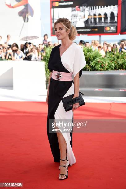 Elisabetta Pellini walks the red carpet ahead of the 'My Brilliant Friend ' screening during the 75th Venice Film Festival at Sala Grande on...