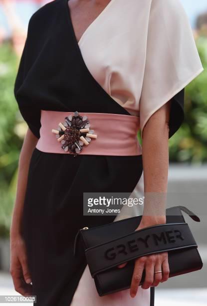 Elisabetta Pellini walks the red carpet ahead of the 'My Brilliant Friend ' screening during the 75th Venice Film Festival at Sala Grande on...