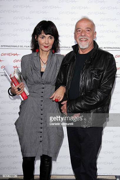 Elisabetta Sgarbi and author Paulo Coehlo attend the Paulo Coehlo Photocall during day 6 of the 4th Rome International Film Festival held at the...