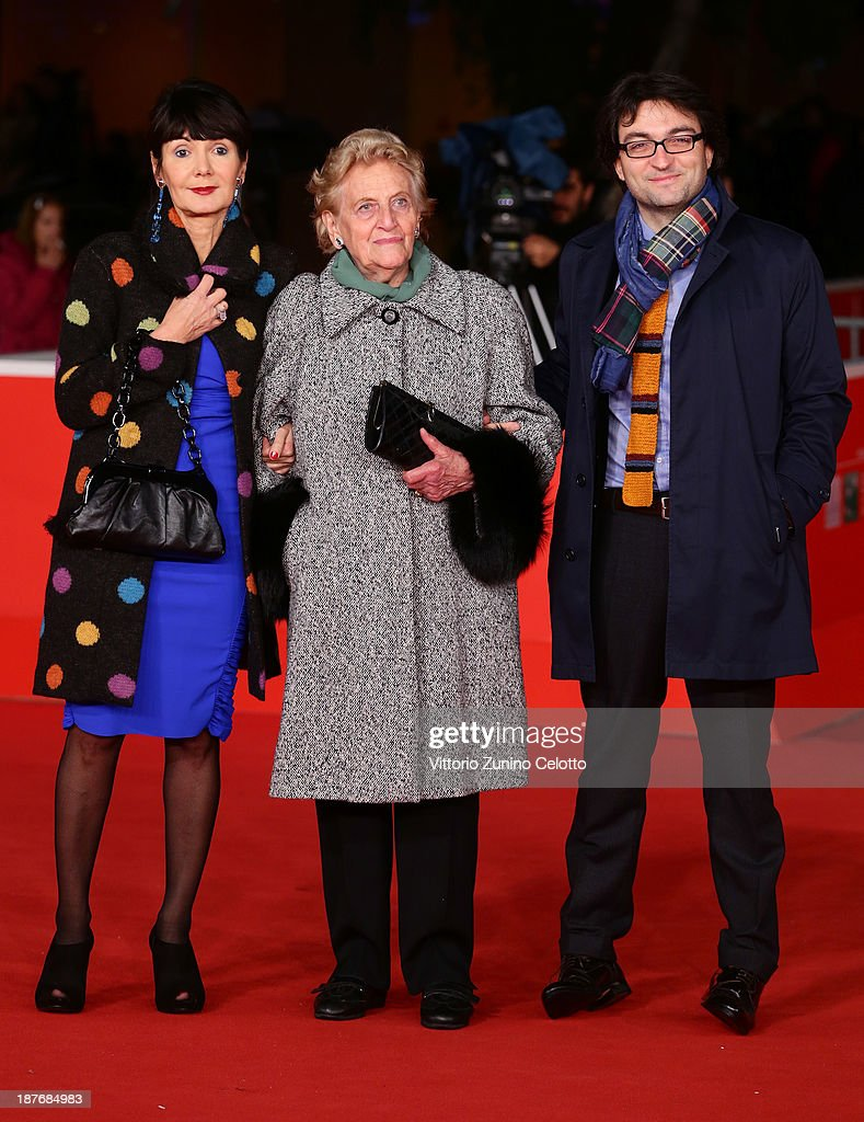 Elisabetta Sgarbi, guest and Eugenio Lio attend 'Sorrow And Joy' Premiere And 'Quando I Tedeschi Non Sapevano Nuotare' Premiere during The 8th Rome Film Festival at Auditorium Parco Della Musica on November 11, 2013 in Rome, Italy.