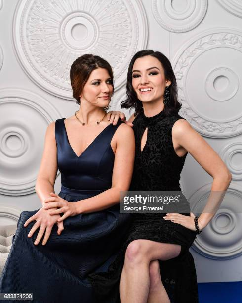 Elise Bauman and Natasha Negovanlis pose in the ETalk Portrait Studio at the 2017 Canadian Screen Awards at the Sony Centre For Performing Arts on...