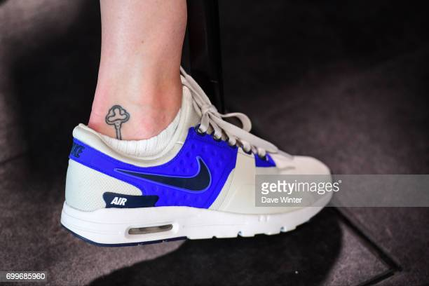 Elise Bussaglia of France during the France women's press conference at Centre National du Football on June 22 2017 in Clairefontaine France
