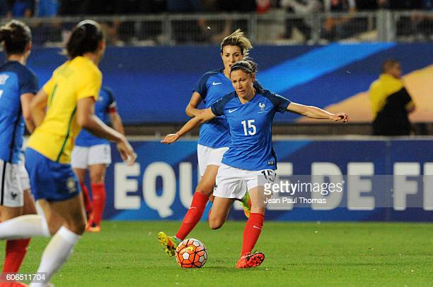 Elise BUSSAGLIA of France during the International friendly match between France women and Brazil women on September 16 2016 in Grenoble France