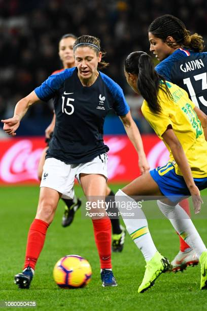 Elise Bussaglia of France during the International Women match between France and Brazil at Allianz Riviera Stadium on November 10 2018 in Nice France