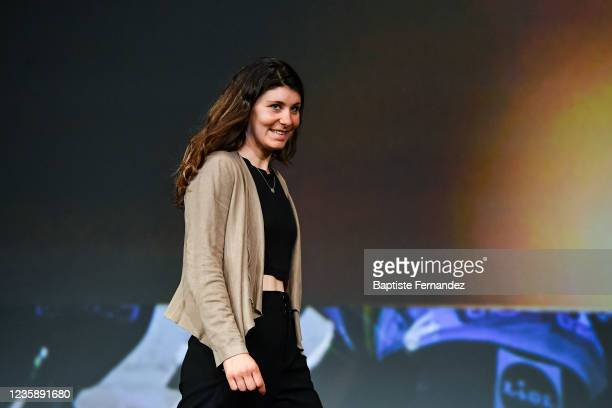Elise CHABBEY during the presentation of the Tour de France 2022 at Palais des Congres on October 14, 2021 in Paris, France.