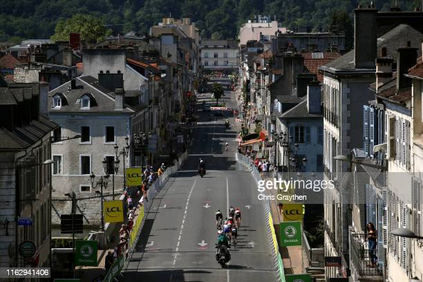 Elise Chabbey of Switzerland and Bigla Pro Cycling Team / Nikola Noskova of Czech Republic and Bigla Pro Cycling Team / Sarah Roy of Australia and...