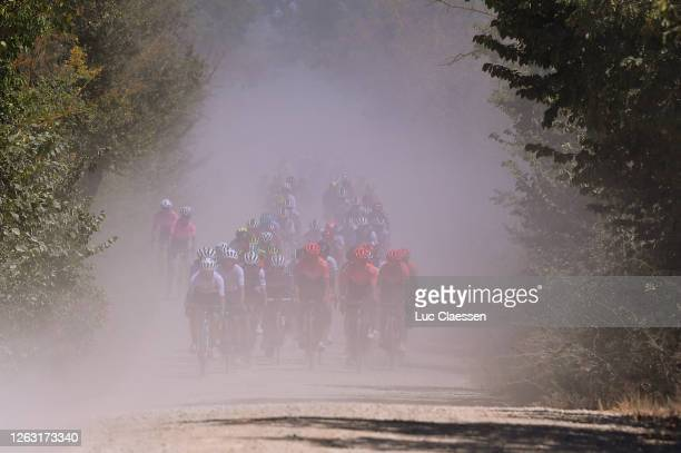 Elise Chabbey of Switzerlandand Team Equipe Paule Ka / Soraya Paladin of Italy and Team CCC-Liv / Jeanne Korevaar of The Netherlands and Team CCC-Liv...