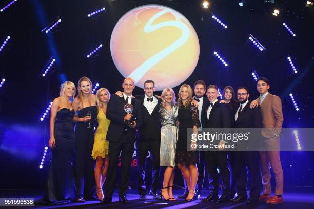 Elise Christie and Shaolin Sándor Liu presents the Agency of the Year award to MC Saatchi Sport Entertainment during the BT Sport Industry Awards...