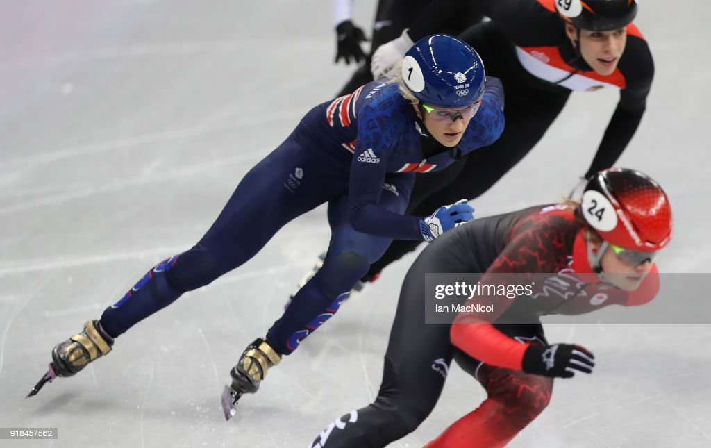 Elise Christie of Great Britain is seen during the Short Track Speed Skating Women's 500m on day four of the PyeongChang 2018 Winter Olympic Games at Gangneung Ice Arena on February 13, 2018 in Gangneung, South Korea.