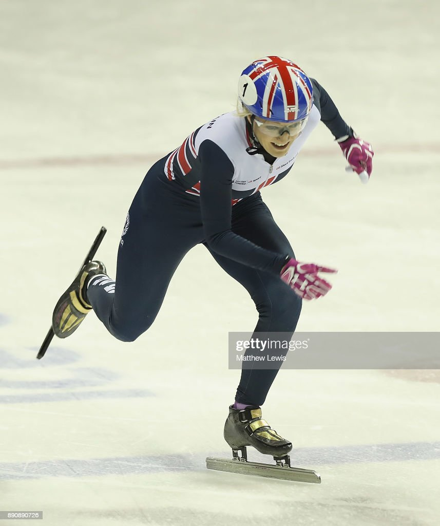 Elise Christie of Great Britain pictured during a media day for the Athletes Named in the GB Short Track Speed Skating Team for the PyeongChang 2018 Winter Olympic Games on December 12, 2017 in Nottingham, England.