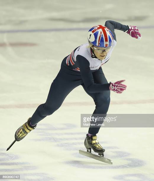 Elise Christie of Great Britain pictured during a media day for the Athletes Named in the GB Short Track Speed Skating Team for the PyeongChang 2018...