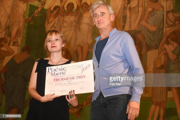 Elise Danal and Pierre Aussedat during Poesie En Liberté 2019 Awards Ceremony At Mairie Du 5eme on November 23 2019 in Paris France