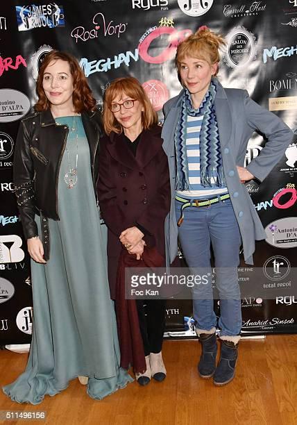 Elise Depardieu, Elisabeth Depardieu and Julie Depardieu attend The Meghanora Auction Fashion Show to Benefit Meghanora Children Care Association:...