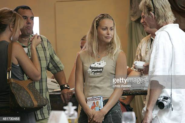 Elise Garrigue during Rip Curl Malibu Pro Press Conference at Granita in Malibu California United States
