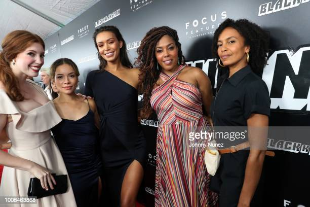 Elise Hudson Cindy Morgan Ilfenesh Hadera and De'Adre Aziza attend the 'BlacKkKlansman' New York Premiere at Brooklyn Academy of Music on July 30...