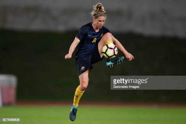 Elise Kellond Knight of Australia Women during the Algarve Cup Women match between Australia v China PR at the Estádio Municipal de Albufeira on...