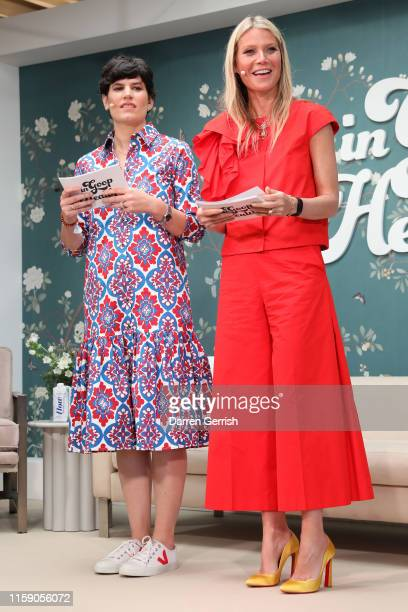Elise Loehnen and Gwyneth Paltrow on stage at In goop Health London 2019 on June 29, 2019 in London, England.