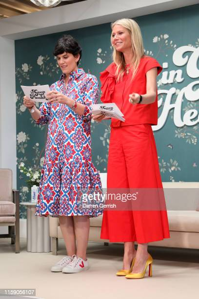 Elise Loehnen and Gwyneth Paltrow on stage at In goop Health London 2019 on June 29 2019 in London England