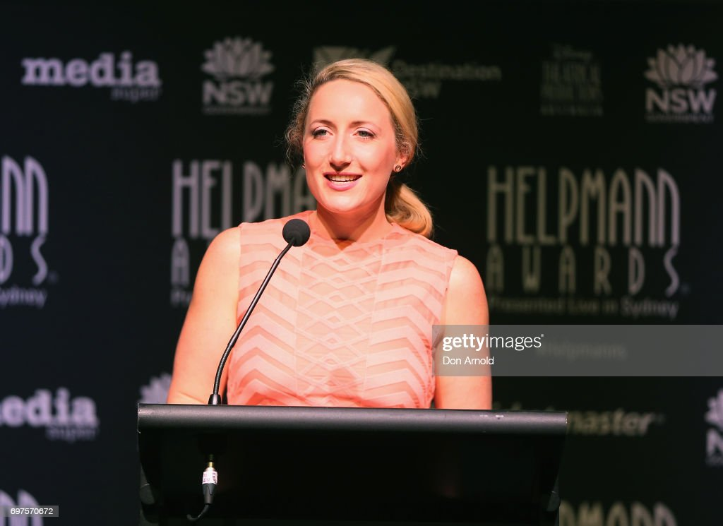 Elise McCann announces nominees during the Helpmann Awards 2017 Nomination Announcement at Roslyn Packer Theatre on June 19, 2017 in Sydney, Australia.